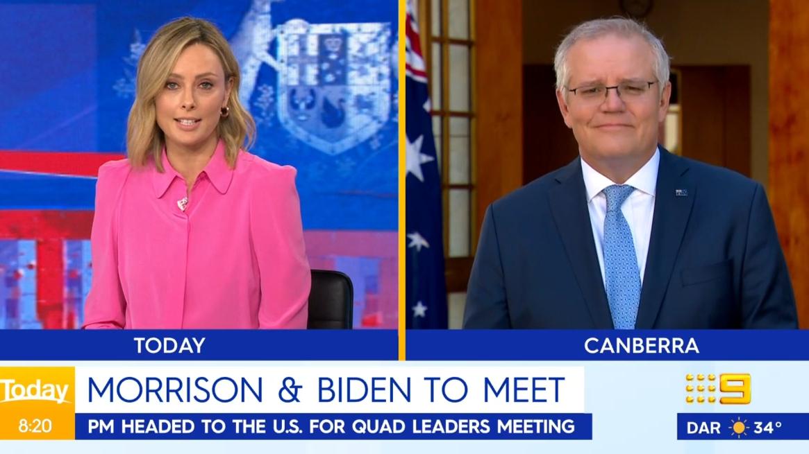 Ally Langdon's hilarious slip-up with Prime Minister Scott Morrison