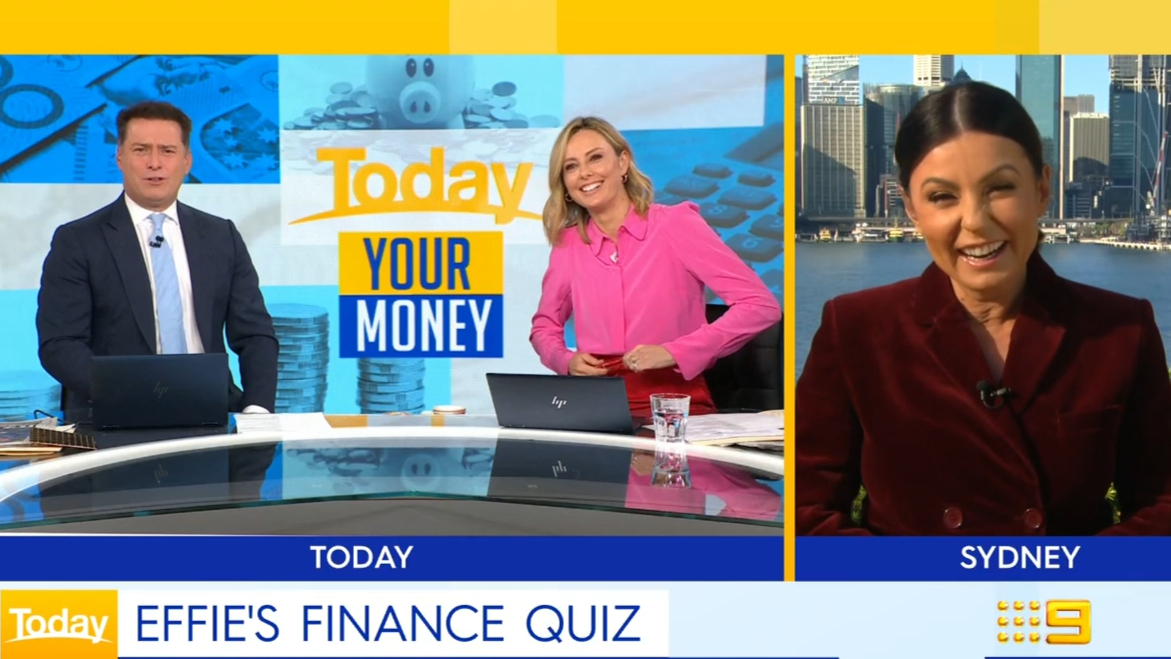 Finance expert Effie Zahos puts Karl and Ally to the test
