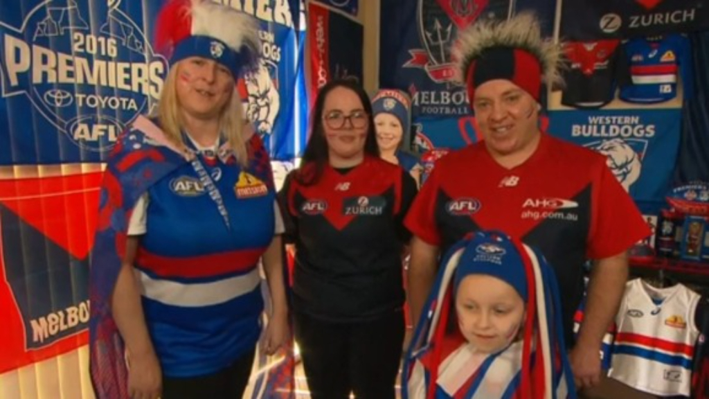 This footy-loving family is one divided