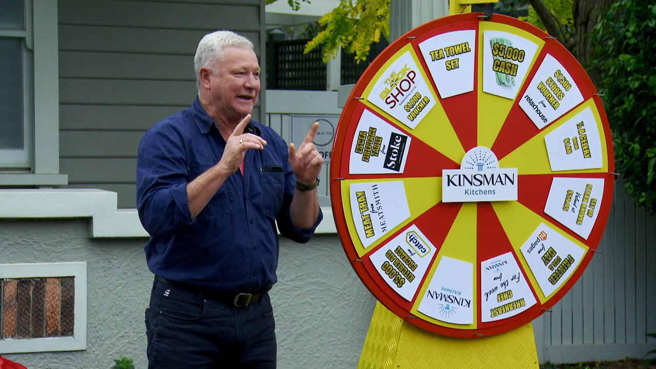Scott Cam unveils the Kinsman chocolate wheel, with huge prizes up for grabs