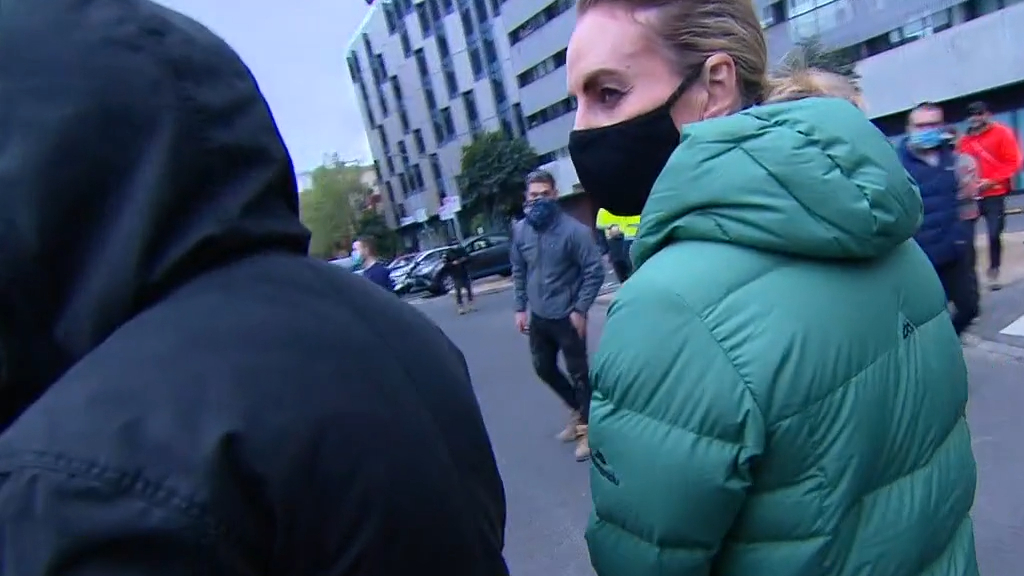 Today reporter and cameraman 'physically threatened' during Melbourne protests