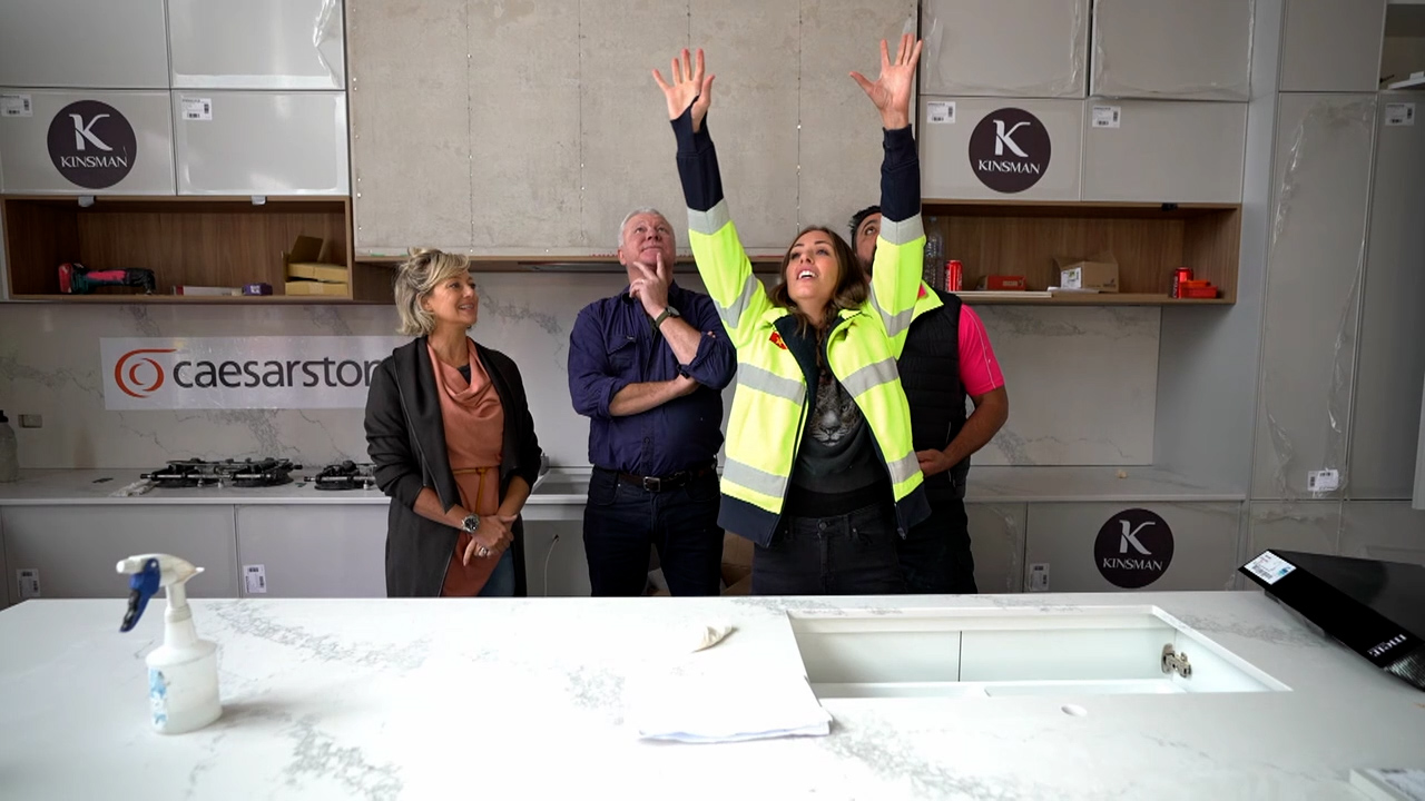 Ronnie and Georgia explain their plans for an 'understated' kitchen