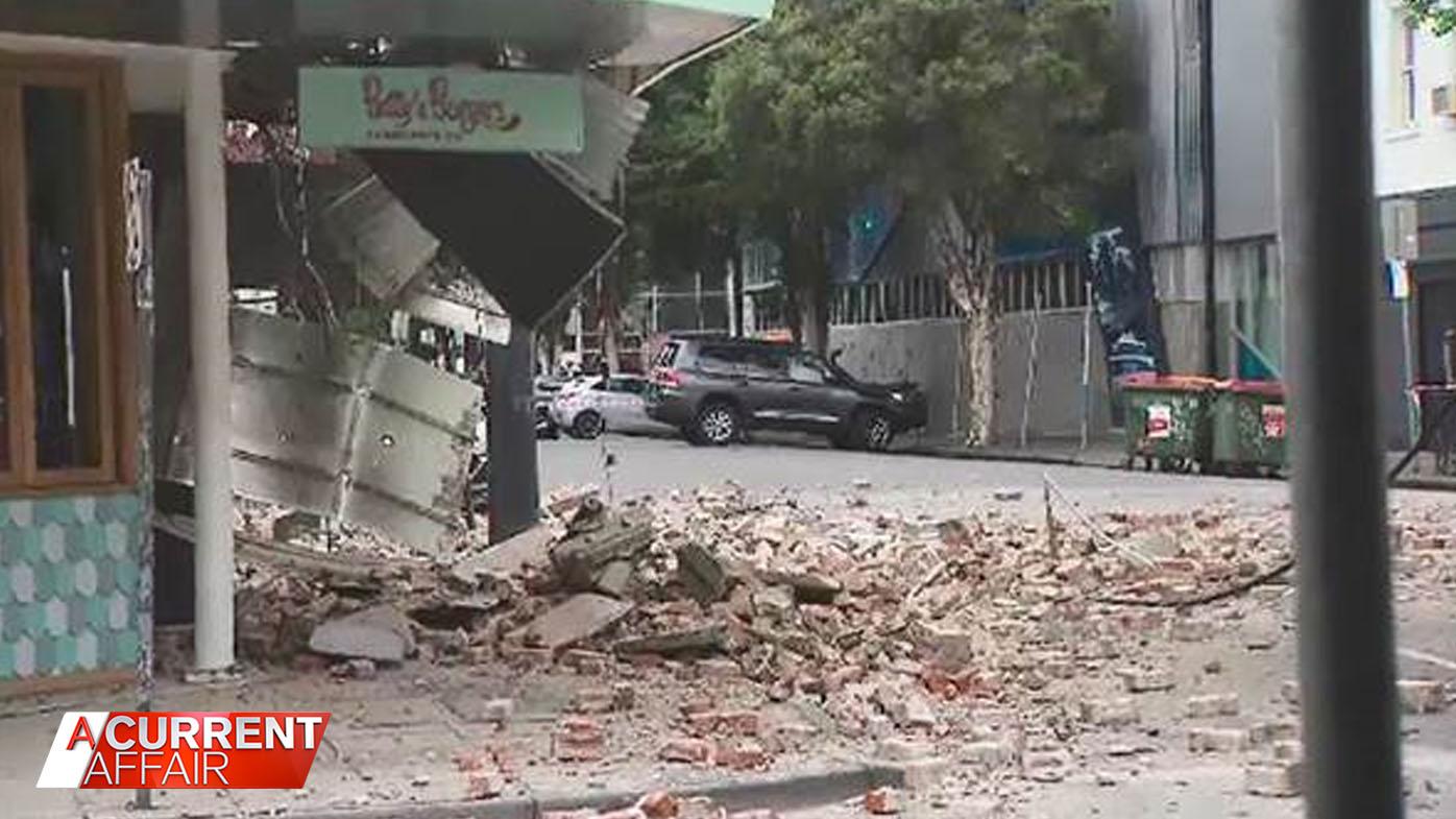 Melbourne residents reveal terrifying moment earthquake hit.