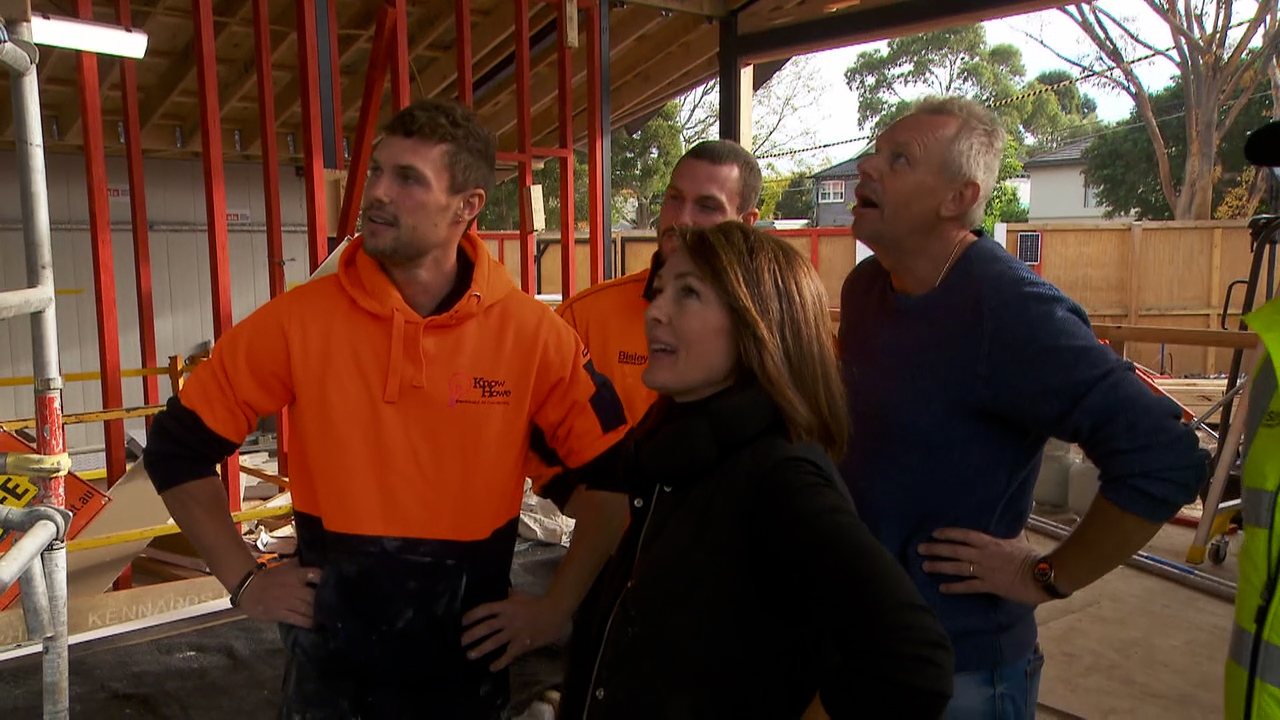 Josh and Luke's parents are impressed by their renovation so far