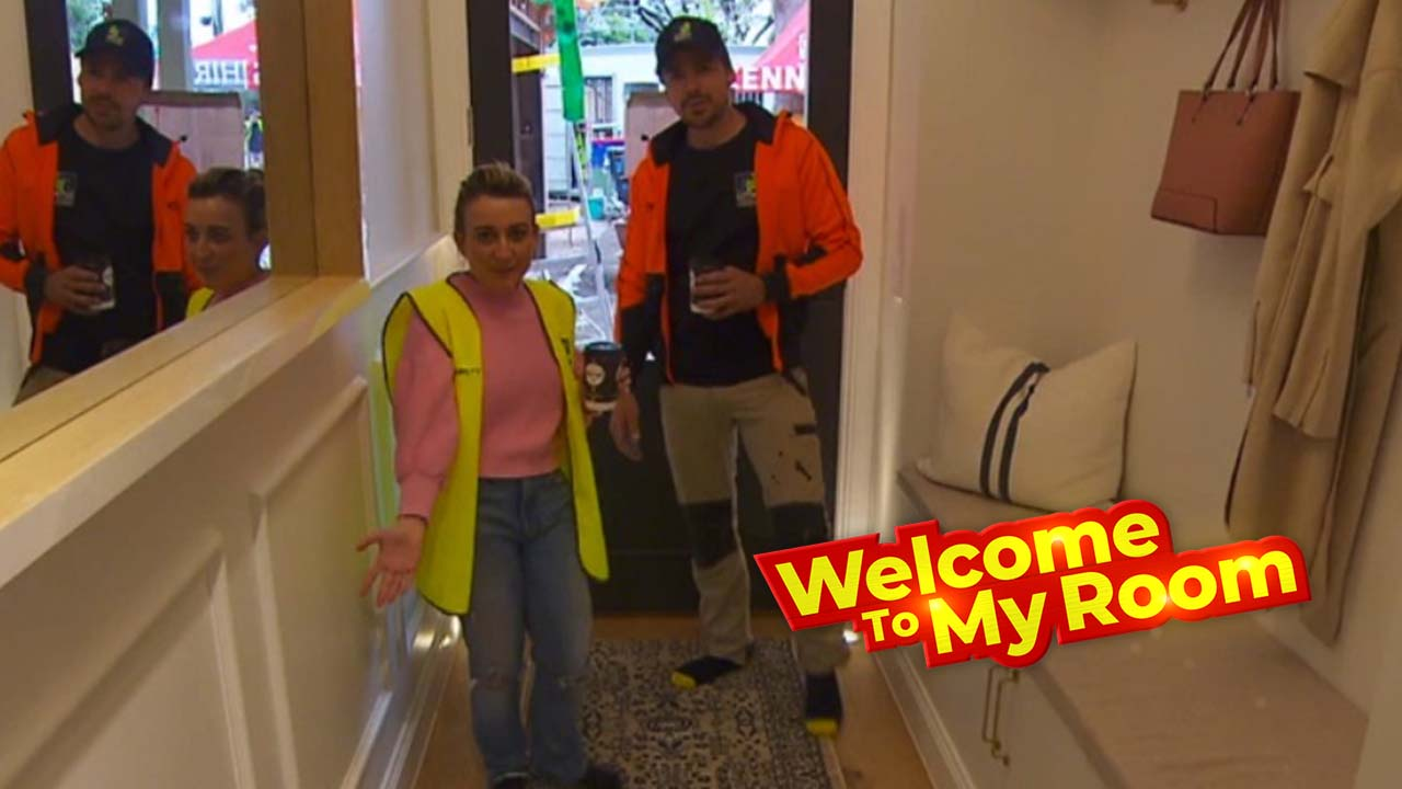 Welcome To My Room: Kirsty and Jesse talk through the features of their hallway and laundry