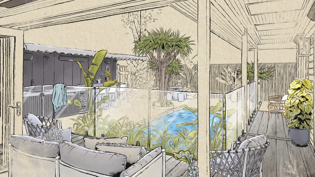 Mitch and Mark's tropical oasis predicted to be a hit with the judges