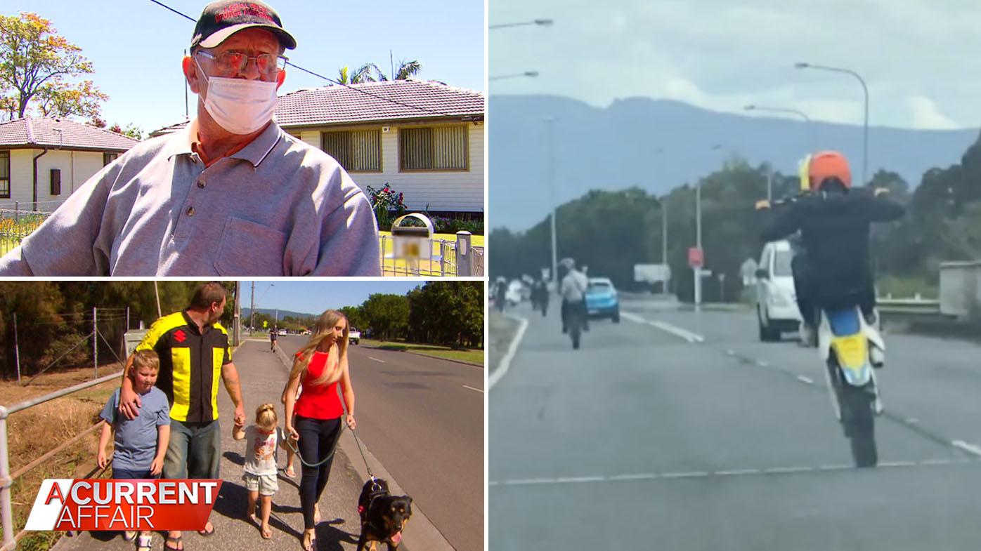 Teen hoons filmed doing wheelies and putting locals in danger.