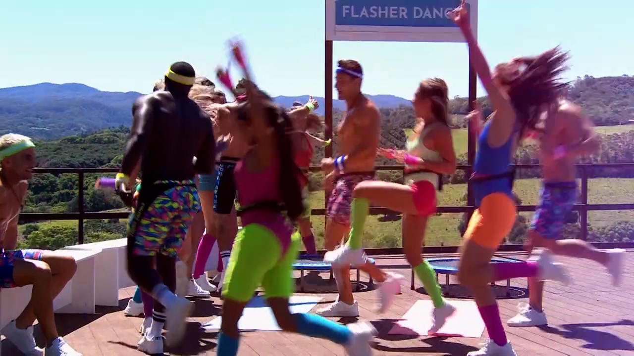 Islanders take part in very sexy workouts in the Flash Dance challenge