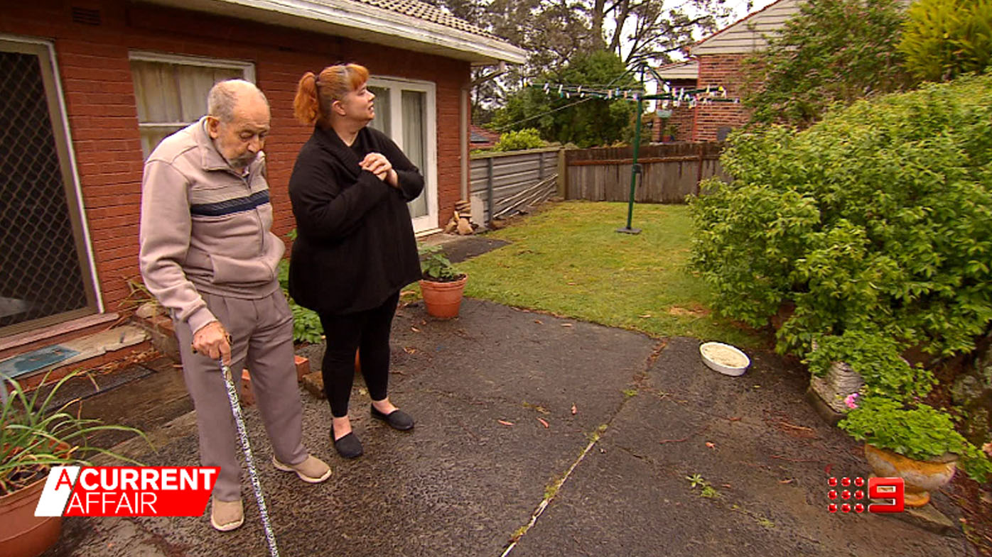 Elderly homeowner, 91, accuses neighbour of being a bully in land stoush.