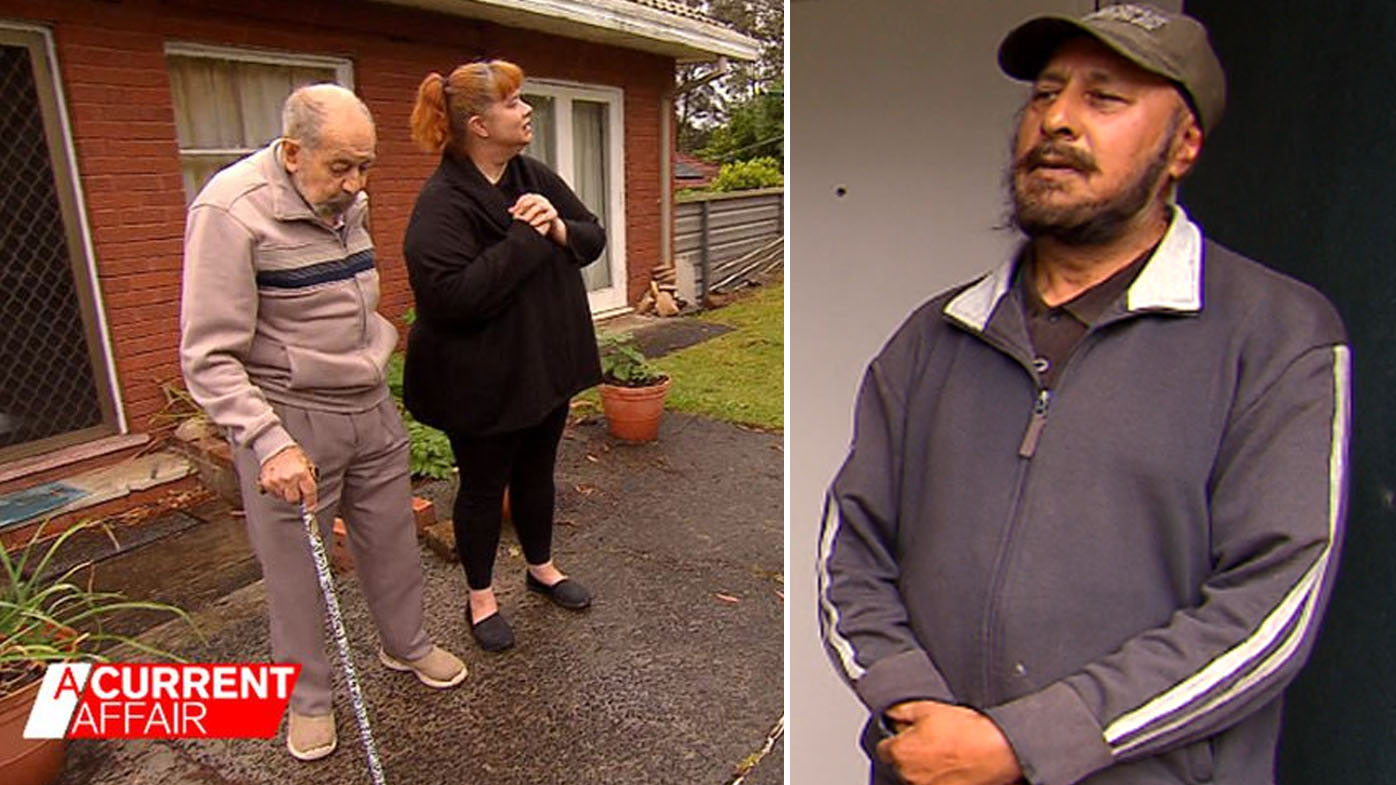 Elderly man claims neighbour 'threatened legal action' over land clash.