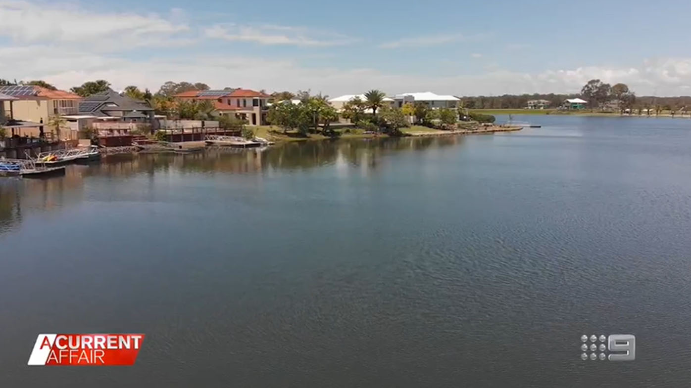 Lakeside residents accused of trespassing with own pontoons.