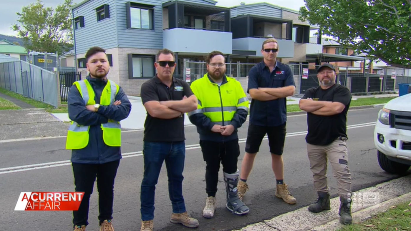 Tradies claim they're owed tens of thousands of dollars.